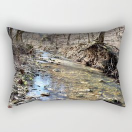 Alone in Secret Hollow with the Caves, Cascades, and Critters, No. 10 of 20 Rectangular Pillow
