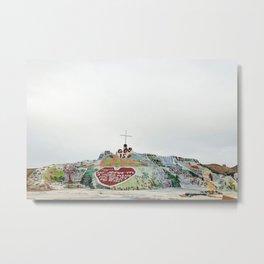 Salvation Mountain Metal Print