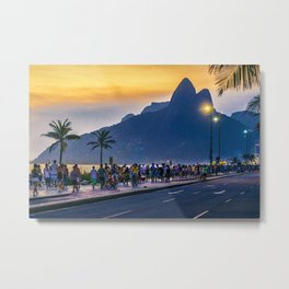 Ipanema Beach, Rio de Janeiro, Brazil Metal Print