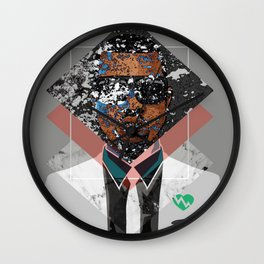 Hip Hop KanyeWest Compilation Minimal Abstract Wall Clock