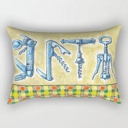 corkscrews 2 zipper pouch Rectangular Pillow