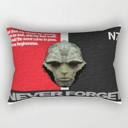 NEVER FORGET - Thane Krios - Mass Effect Rectangular Pillow