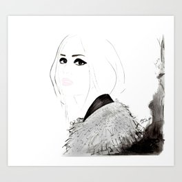 Watercolour Fashion Illustration Titled Wild Child Art Print