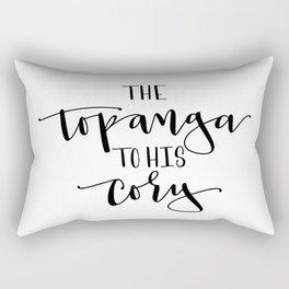 The Topanga To His Cory Rectangular Pillow