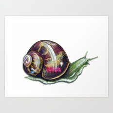 Slow Coach Art Print