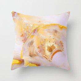 Modern Blush and gold Agate Throw Pillow