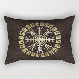 The helm of awe Rectangular Pillow