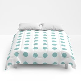 Chalky Blue Polka Dots Comforters