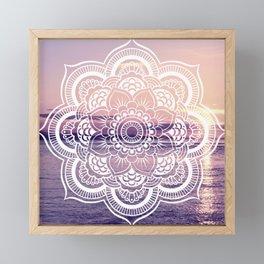 Water Mandala Amethyst & Mauve Framed Mini Art Print
