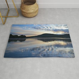 Rippling Reflections: September Sunrise on Lake George Rug