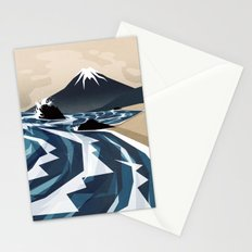Breaking the waves Stationery Cards