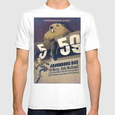 Groundhog Day Mens Fitted Tee White MEDIUM