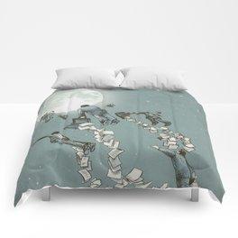 Flight of the Salary Men (color option) Comforters