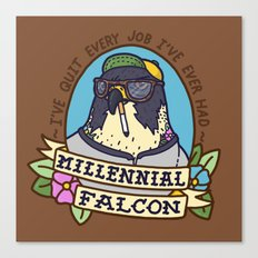 Millennial Falcon Canvas Print