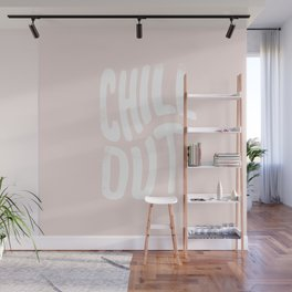 Chill Out Vintage Pink Wall Mural