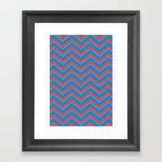 Flat Chevron Framed Art Print