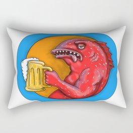 Leopard Coral Grouper Beer Mandala Rectangular Pillow