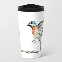 Bluebirds watercolour and ink Travel Mug
