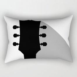 Guitar Headstock With Shadow Rectangular Pillow