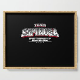 Team ESPINOSA Family Surname Last Name Member Serving Tray