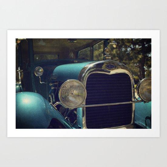 Vintage Car Ford Art Print
