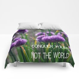 Conquer Yourself Comforters