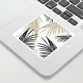 Gold Black Palm Leaves Dream #1 #tropical #decor #art #society6 Sticker