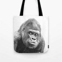 Black and White Gorilla Tote Bag