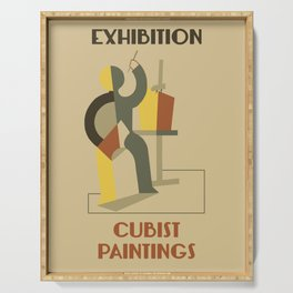 Exhibition cubist paintings Serving Tray