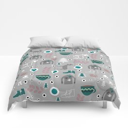 Deer and winter clothing Comforters