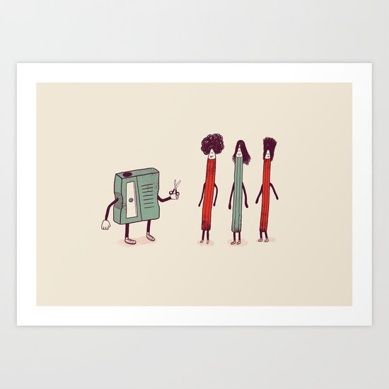Time to Sharpen Up Dudes Art Print