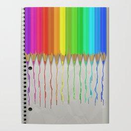 Melting Rainbow Pencils Poster