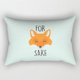 For Fox Sake Rectangular Pillow