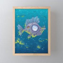 Zombie Fish Framed Mini Art Print
