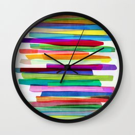 Colorful Stripes 1 Wall Clock