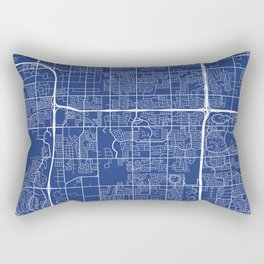 Tempe Map, USA - Blue Rectangular Pillow