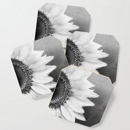 B&W Sunflower Coaster