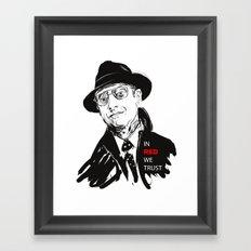 In RED we TRUST Framed Art Print