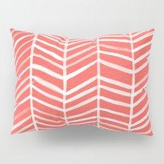 Coral Herringbone Pillow Sham