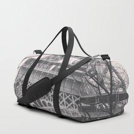 Eiffel tower, Paris, black & white photo, b&w fine art, tour, city, landscape photography, France Duffle Bag