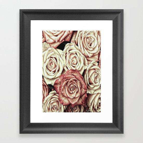 A Bed of Roses Framed Art Print