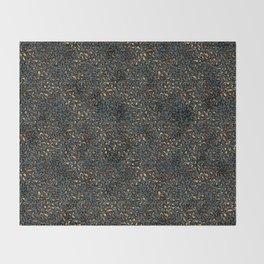 Blue Bronze Leopard Print Throw Blanket