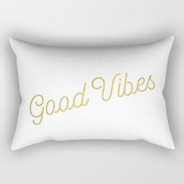 Good Vibes - metallic gold Rectangular Pillow