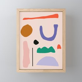 Shapes Framed Mini Art Print