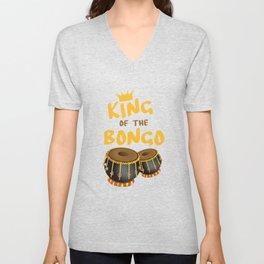King Of The Bongo Drummer Bongos Player Music Teacher Unisex V-Neck