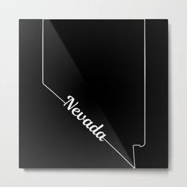 Nevada State Pride USA Map Metal Print