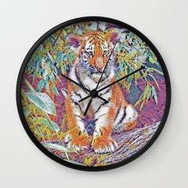 Tiger Cub Pop Art Wall Clock