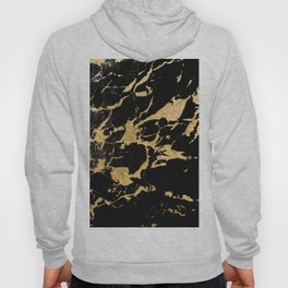 Black Marble Gold Glam #2 #decor #art #society6 Hoody