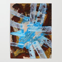 Drawing the Longest Straw Modern Abstract Painting Poster
