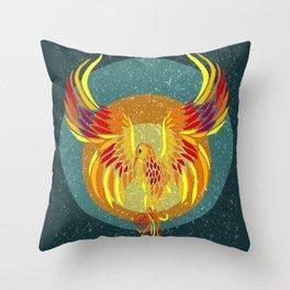 Fire Phoenix Throw Pillow